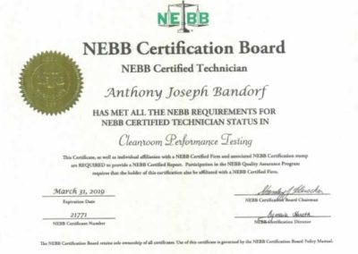 NEBB Certification