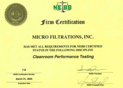 Cleanroom Performance Testing